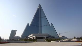 Pyongyang's 105-storey Ryugyong Hotel (file photo)