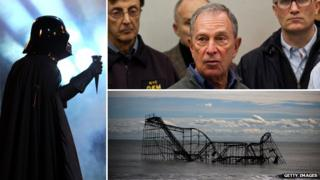 Dart Vader, Michael Bloomberg and the roller coaster at Seaside Heights