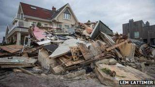 Hurricane Sandy damage in New York