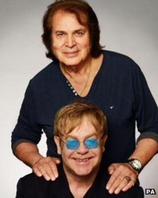 Humperdinck with Sir Elton John