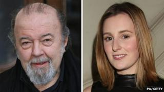 Sir Peter Hall and Laura Carmichael