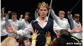 Children perform Shakespeare