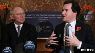Wolfgang Schauble and George Osborne