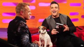 Graham Norton and Robbie Williams