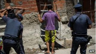 Police on patrol in Paraisopolis