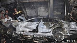 Scene after blast in Waroud, Damascus. 6 Nov 2012