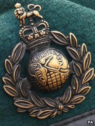 Badge from a Marine Commando green beret