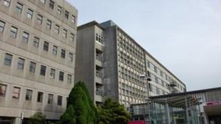 Tower Block at the Royal Cornwall Hospital