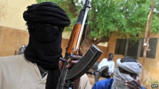 Islamist Mujao fighters in Mali - July 2012