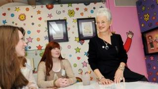 Jacqueline Wilson speaks to young people at Seven Stories