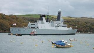 HMS Dragon in Fowey