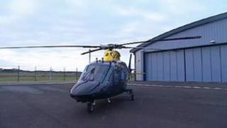 The Dyfed-Powys Police helicopter