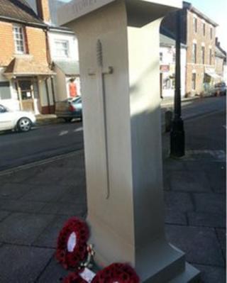 War memorial in Nether Stowey