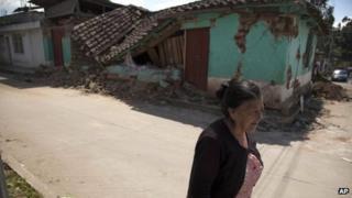 A resident in San Marcos, Guatemala, 8 Nov 2012