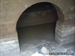 Hole under Alderney's Royal Connaught Square