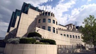 The MI6 building in London.