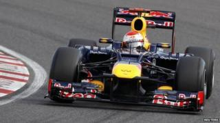 Red Bull Formula One driver Sebastian Vettel of Germany drives during the qualifying session of the Japanese F1 Grand Prix at the Suzuka circuit 6 October, 2012.