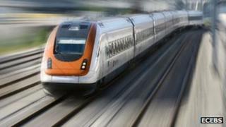 Image of train on Ecebs website