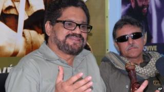 Farc negotiators Ivan Marquez and Jesus Santrich, in Cuba, 6 Nov 2012