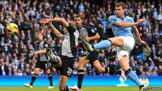 Edin Dzeko of Manchester City, who paid 114% of income on salaries in 2010/11 season