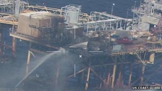 Black Elk oil rig fire, Gulf of Mexico 16 November 2012