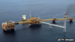 Total offshore oil well off the Niger delta