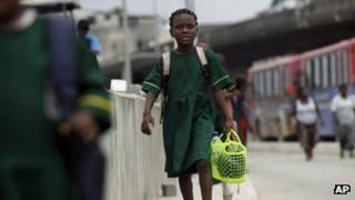 A schoolgirl in Nigeria