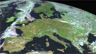 Europe by satellite
