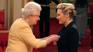 The Queen makes Kate Winslet a CBE