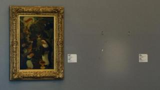 Empty space in Rotterdam's Kunsthal art gallery where stolen Matisse hung