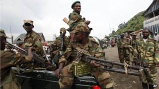 Rebels in Sake in eastern DR Congo (21 November 2012)