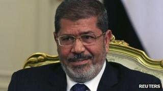 Egyptian President Mohammed Mursi (file photo, July 2012)