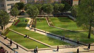 Artist's impression of the new park
