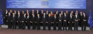 Leaders posing in Brussels