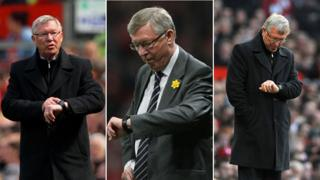 Fergie looking at his watch