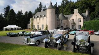 Cars at Candacraig House