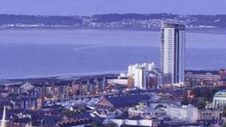 Swansea's Meridian Quay is the tallest building in Wales