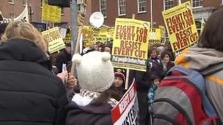 Dublin protest
