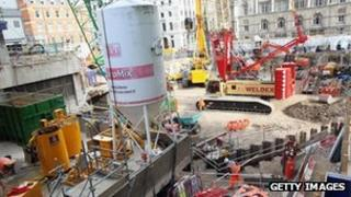 Construction work on the Crossrail project