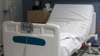 Bed at Bradford Royal Infirmary birth centre