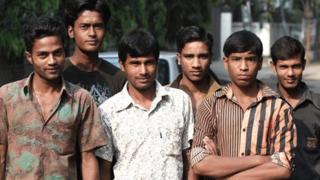 Group of young Bangladeshi men