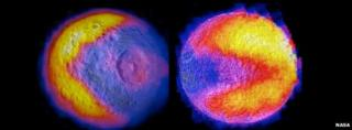 """""""Pac-Man"""" features on Mimas and Tethys"""