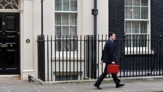 George Osborne at Downing Street on Budget Day