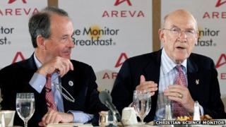 Erskine Bowles and Alan Simpson at the Christian Science Monitor Breakfast (28 November)