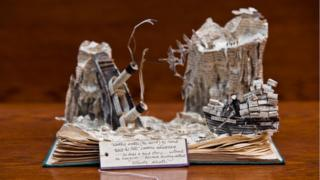 Whisky Galore book sculpture