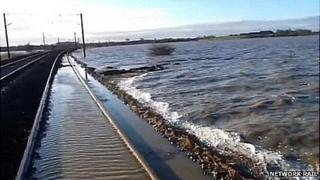 Flooded East Coast Main Line