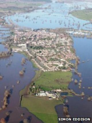 Upton-upon-Severn area on Thursday