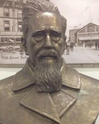 Griffith John's bust is on display at Swansea Museum until February