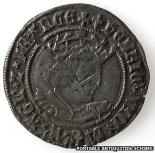 One of the coins found in the hoard
