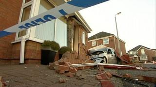 The scene of the crash, in Framlingham Road, Peterborough